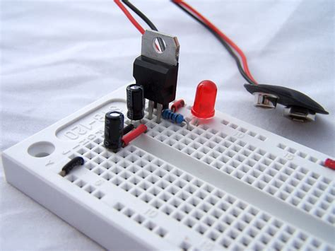 breadboard circuit components atmega8 breadboard circuit part 1 of 3 power supply protostack