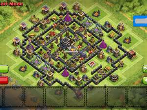 Th9 base 4 war mortars best th9 trophy base clash of clans view