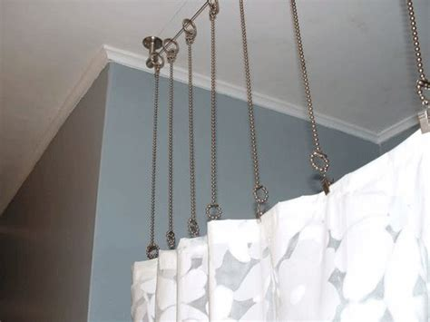 unique curtain hanging ideas best 25 shower rod ideas on pinterest bathroom shower