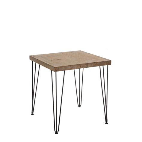 mesa madera patas hierro