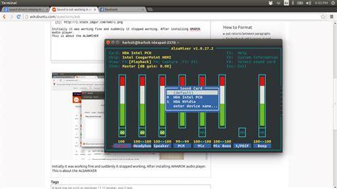 ubuntu reset alsa sound not working in ubuntu 14 04 ubuntuxchanger