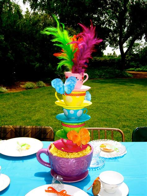 whimsical alice in wonderland mad hatter tea party tea cup