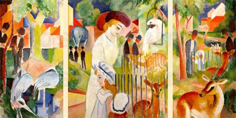 Zoologischer Garten Poster by August Macke The Zoo Poster Posterlounge