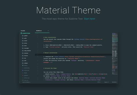 sublime text 3 theme guide material theme the most epic theme for sublime text