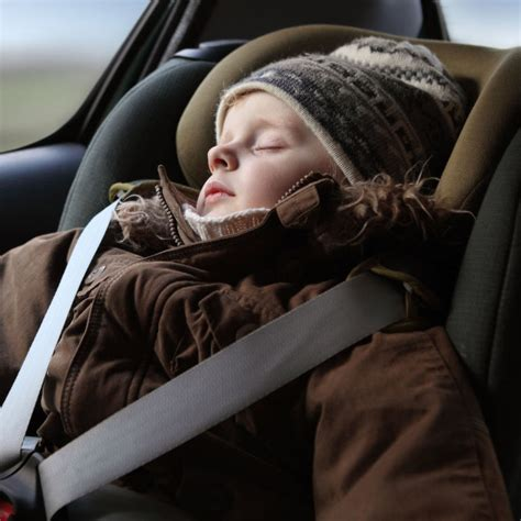 winter jackets and car seats crash test shows dangers of car seats and