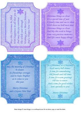 Card Inserts For Handmade Cards - verses card toppers or inserts cup141632 68