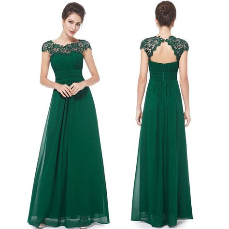 Green Wedding Dresses Uk by Floor Length Chiffon Bridesmaid Prom Dress Green