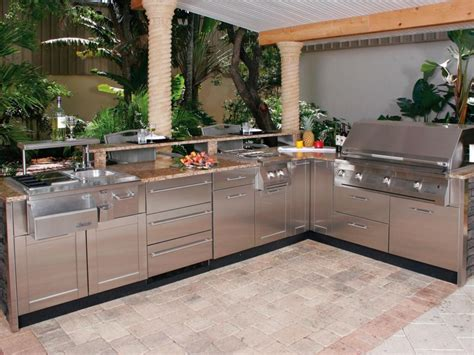 outdoor kitchen countertops ideas outdoor stainless steel countertop cost and design ideas furniture