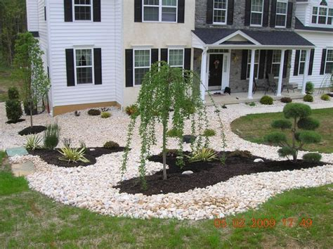 river rock flower bed flower bed rocks interiors design