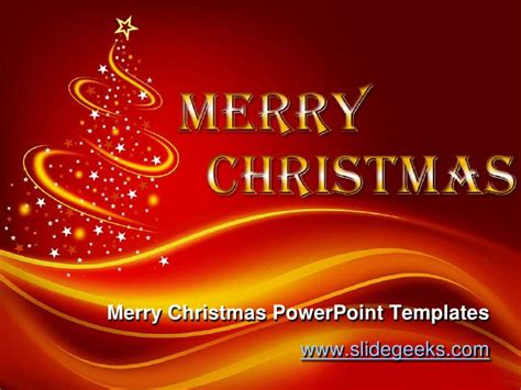 merry powerpoint template merry power point templates