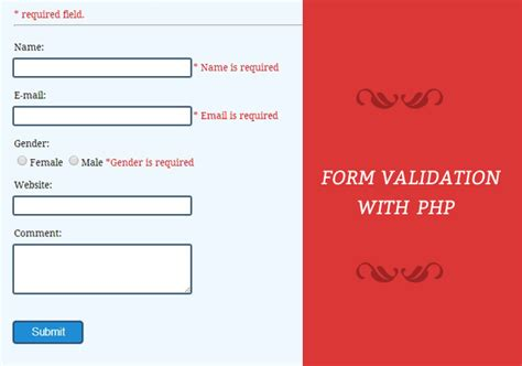 validate date format with php form validation using php formget