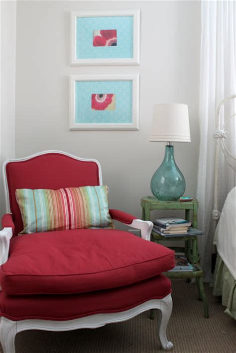 red chair for bedroom red chair in corner of daughter s bedroom hooked on houses