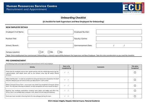 onboarding process template onboarding checklist template best business template