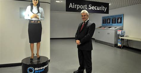 birmingham airport s new security device is a hologram