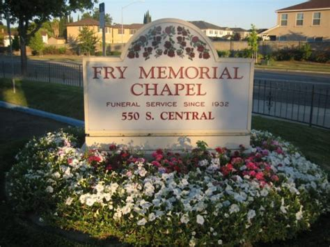 fry memorial chapel tracy ca funeral home and cremation