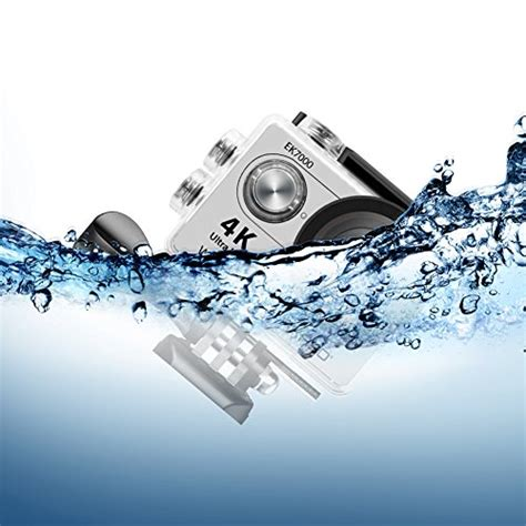 Terbatas Waterproof Sports 4k Ultra Hd 12mp 2 Inch Lcd akaso 4k wi fi sports ultra hd waterproof dv camcorder 12mp 170 degree wide angle