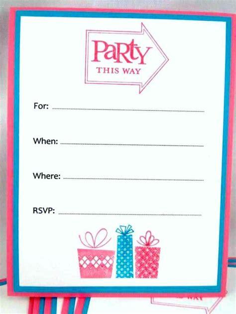Creative Invitation Card Templates Free by Free Printable Birthday Invitations Ideas Blank Card