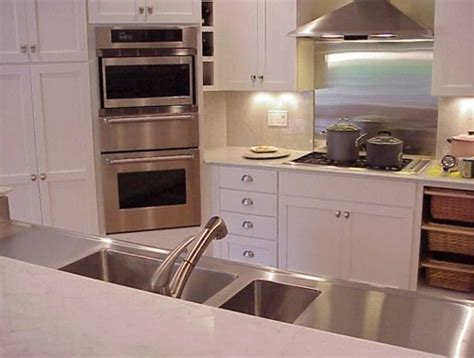 Residential Stainless Steel Countertops by Custom Stainless Steel Countertops Sinks And Cabinets