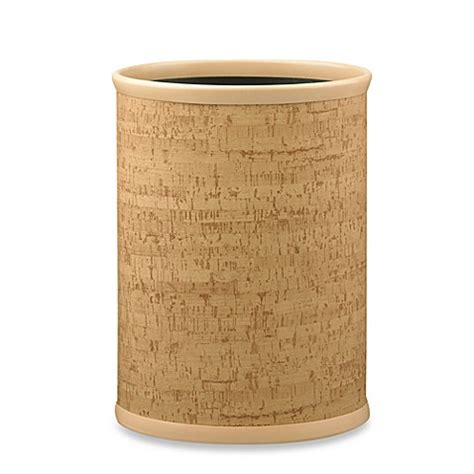 bathroom ware cork kraftware natural cork 14 inch oval wastebasket bed