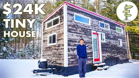 tiny house living tuesday s tiny house tour young man builds 24k tiny house winter living