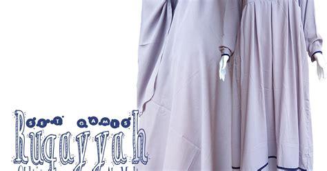 Gamis Syamira Premium 2 Abu Syar I 1 gamis muslimah bercadar abu muda