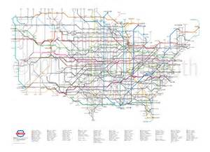 interstate map here s what america s highways would look like as a subway