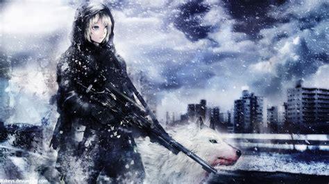Anime Soldier Girl Wallpaper | anime girl soldier wallpaper
