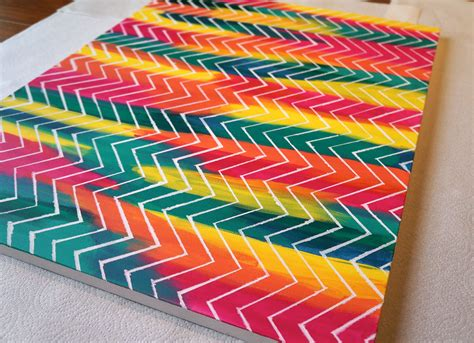 painted projects easy canvas art tutorial crafthubs arts and crafts