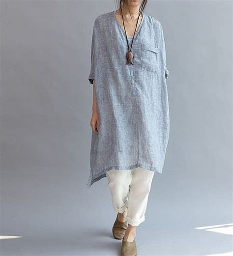 fitting linen dress asymmetric oversized