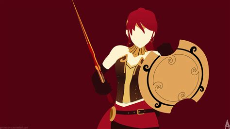 Rwby Wallpaper Pyrrha rwby pyrrha nikos minimalist wallpaper by archeoalex on