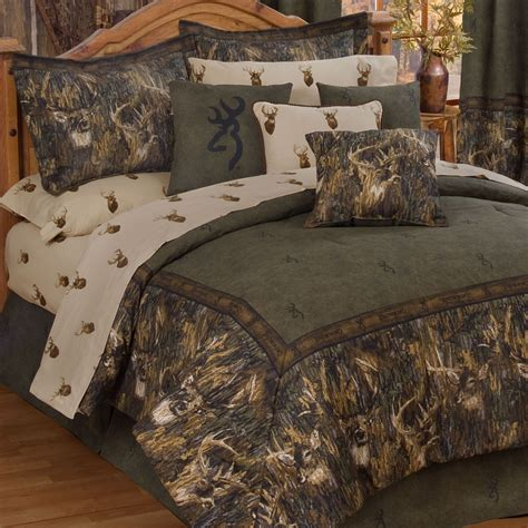 camo bedroom browning r whitetails deer camo comforter bedding