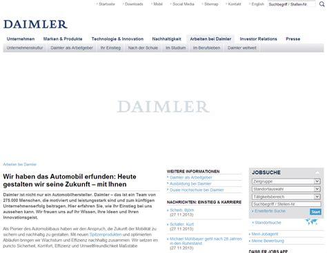 Bewerbungsanschreiben Ferienjob Daimler Karriereseiten Top 10 Der Automobilbranche Karrierebibel De