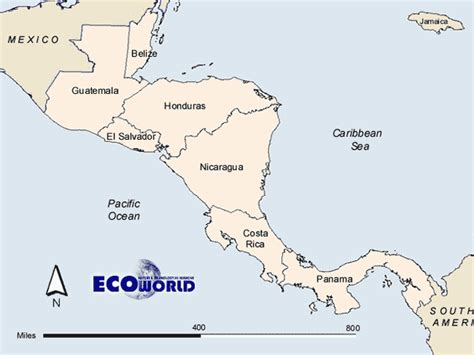 america map labeled printable best photos of printable map of central america central