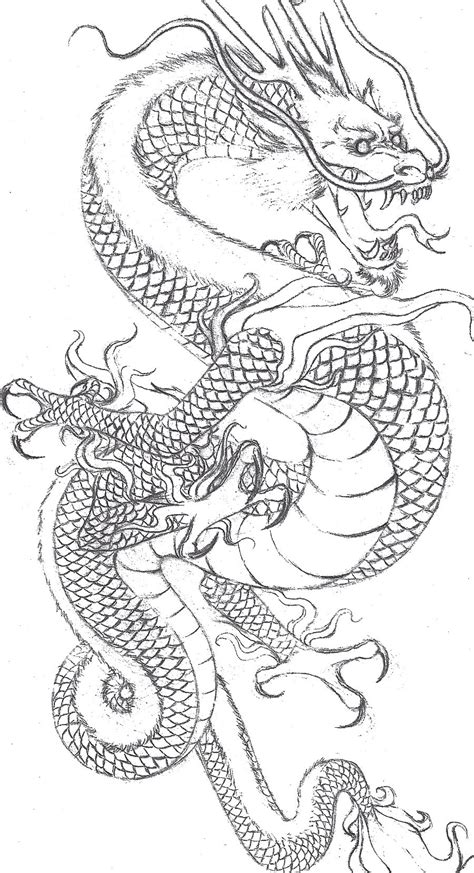 dragon tattoo outline designs japanese tattoos designs ideas and meaning tattoos for you