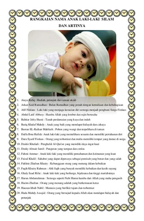 membuat nama anak islam rangkaian nama anak perempuan dan laki laki islam dan artinya