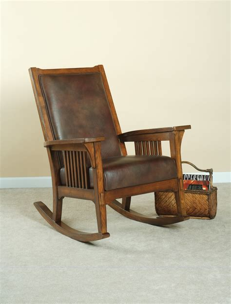 Living Room Rocking Chairs - flexsteel living room leather rocker 3995 14 s