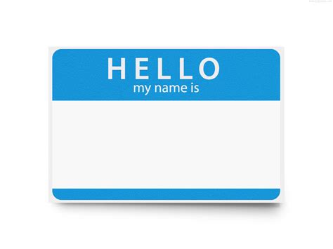 Name Tag Template Psd by Hello My Name Is Psd Template