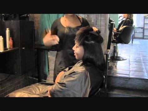 top black hair stylist natural blow out with silk press best salon in atlanta