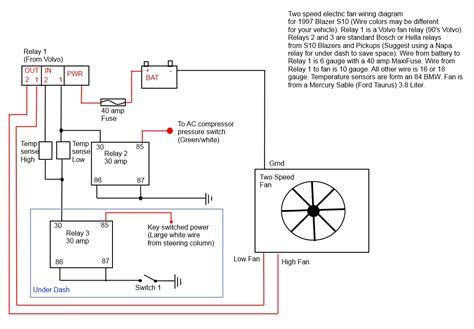 relay wiring diagram for electric fan 37 wiring diagram