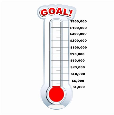 free fundraiser thermometer template 9 fundraising thermometer template excel exceltemplates