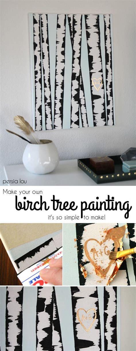 homemade europe diy design genius birch tree painting dump a day