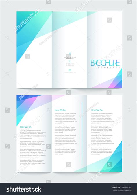 tri fold brochure template pages shiny tri fold brochure template or flyer design