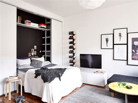 studio apartment bed solutions a 25 square meter studio with a very organized and chic