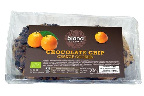 Wrp Cookies Chocolate Chip 240g chocolate chip orange cookies organic 240g biona