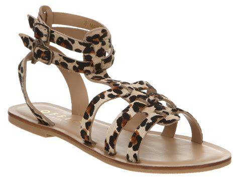 leopard gladiator sandals womens office helena gladiator leopard sandals ebay
