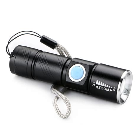 mini cree q5 led 1000 lm rechargeable zoomable focus
