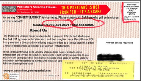 Pch Com Account Information - is this postcard really from publishers clearing house no pch blog