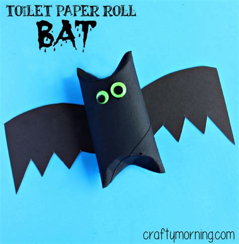 toilet paper roll bat craft for crafty morning
