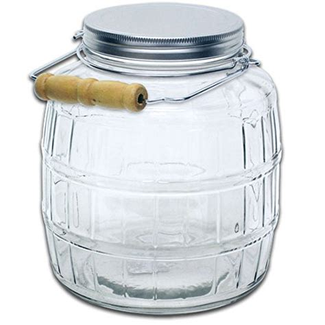 1 Gallon With Lid by Truecraftware 1 Gallon Glass Barrel Jar With Lid And