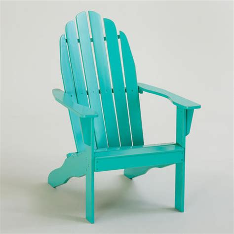 Turquoise Patio Chairs Blue Turquoise Classic Adirondack Chair Contemporary Adirondack Chairs By Cost Plus World